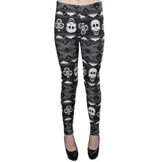 Hre some another winter leggings! These skull printed leggings are so cute! Alternative Fashion, Alternative Style, Winter Leggings, Halloween Costumes, Happy Halloween, Skull Print, Winter Is Coming, Girl Fashion, Fashion Tips