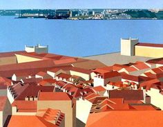 Lisboa by Maluda Portugal, Paint Designs, Wonders Of The World, Illustration, Contemporary Art, Sculpture, Building, Beautiful, City Scapes