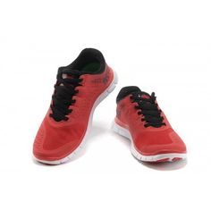 uk availability 29a75 52b5d Homme Nike Free 4.0 V2 Chaussures Rouge Noir - €50.99   Chaussures Nike Air  Max