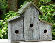 Birdhouse, Rustic Birdhouse, Primitive Bird House, Barnwood Birdhouse, Wood Birdhouse, Large Birdhouse