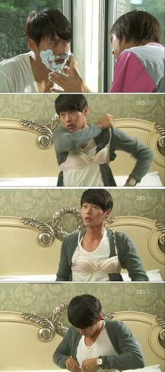 Hyun Bin daebak! ♡ #Kdrama // Secret Garden....This scene was SO funny!