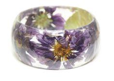 Handmade Resin Flower Bracelet for Mom