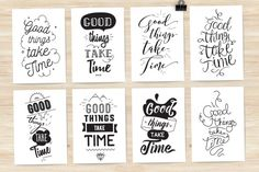 8 cards with motivational quote By pa3x