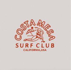 Illustration for Costa mesa surf club