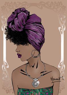 Art of head wrap n°3. Néhanda