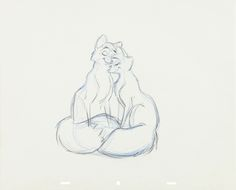 The Disney Elite — Four pages of original pencil animation featuring...