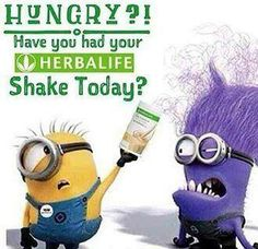 Even an evil Minion needs his F1 shake every day!!