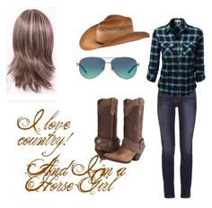 """""""Country in my ear!"""" by mely2303 ❤ liked on Polyvore featuring Tory Burch, Durango, San Diego Hat Co., Tiffany & Co. and country"""