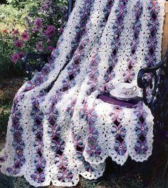 floral crocheted afghan