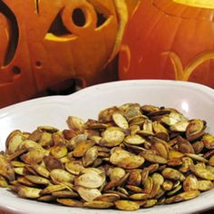 Roasted Pumpkin Seeds Recipe - I do a salt water bath, but I can never remember the time/temp :)