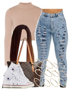 """."" by trillest-queen ❤ liked on Polyvore featuring Jonathan Simkhai, Louis Vuitton, Converse and ASOS"