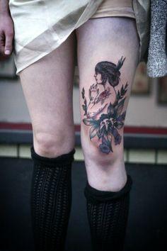 99 Attractive & Sexy Leg Tattoo Designs (For Girls. Pretty Tattoos, Love Tattoos, Beautiful Tattoos, Body Art Tattoos, New Tattoos, Thigh Tattoos, Sweet Tattoos, Awesome Tattoos, Tatoos