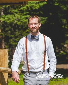 Leather Suspenders  Wedding Suspenders  por CreattiveCollective