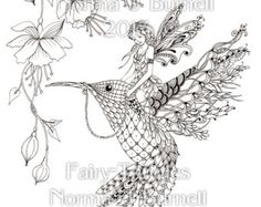 intricate fairy coloring pages coloring sheet fairies hummingbird flowers digi coloring page
