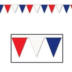 36m Outdoor Quality PVC Flag Bunting Red/ White/ Blue Pennant UK GB USA 120 FT