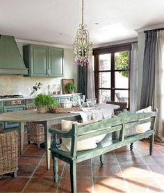 The kitchen of Dutch interior designer Madelon Verheu, in Malaga, Spain.