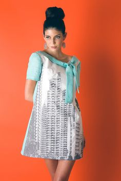 Cute Cityscape Mod Dress XS to L by staciemay on Etsy, $196.00