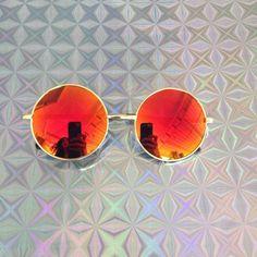 Round John Lennon Sunglasses / Revo Mirrored by WeekendCloset