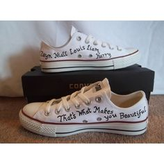 One Direction Lowtop Converse by CustomConverseUK on Etsy, Converse Trainers, Converse Shoes, Shoes Sneakers, Dog Died, What Makes You Beautiful, Hot Cars, One Direction, Footwear, Womens Fashion