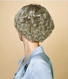 Short Wavy / Curly Gray Capless 100% Indian Remy Cheap Human Hair wigs - $148.99 - Trendget.com