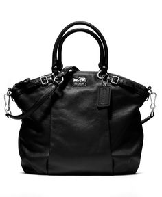COACH MADISON LEATHER LINDSEY SATCHEL - Coach Handbags - Handbags & Accessories - Macy's