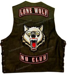 LONE WOLF MOTORCYCLE BACK PATCH & ROCKERS