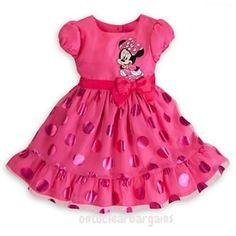 NEW Girls Dress Minnie Mouse Pink princess dress, Party Dress Fancy Dress Summer