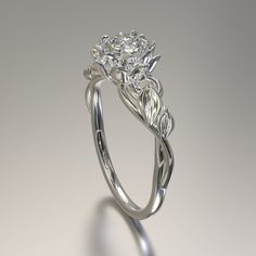 Solitaire is a very common engagement ring with a single valuable diamond from the center. Beautiful Engagement Rings, Solitaire Engagement, Lotus Engagement Ring, Engagement Jewellery, Solitaire Ring, Cute Rings, Pretty Rings, Unique Rings, Ring Verlobung