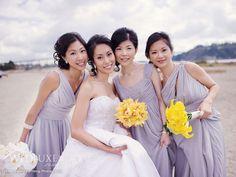 simple bridesmaids dress for beach wedding