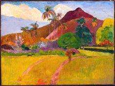 Tahitian Landscape by Paul Gauguin