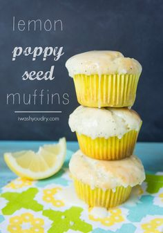~Lemon Poppy Seed Muffins~ So pretty! Perfect for an Easter party or light breakfast. :)