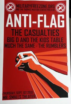 hand registered anti flag poster