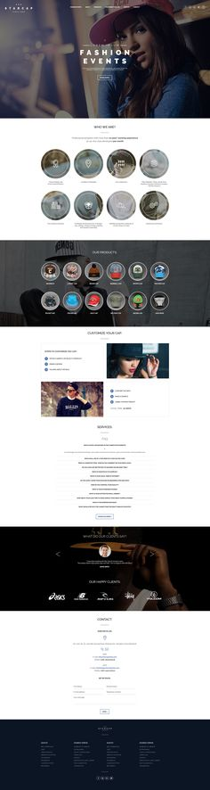 StarCap web design on Behance