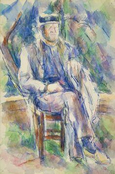 Paul Cézanne  French, 1839-1906, Man Wearing a Straw Hat