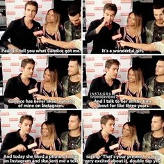 — This is so funny I love Candice sm Interview→Paul Wesley and TVD Cast Comic Con 2016