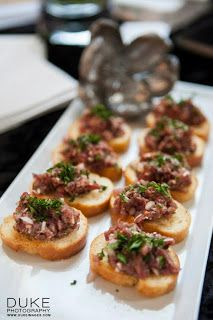 1000 images about canapes on pinterest salmon canapes for Roast beef canape