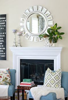 Simple Mantel: Nature + A Touch of Glam - A Thoughtful Place