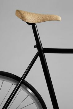 Cork Bicicle Saddle (Sofia Almqvist and Carl Cyrén, 2013): a bicycle saddle made of natural cork material; this saddle is made completely from a block cork using CNC modeling.