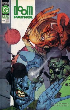 The cover to Doom Patrol #43 (1991), art by Simon Bisley