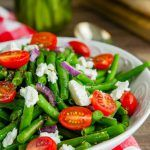 Cold Green Bean Salad - Best Marinated string bean salad recipe - made with a homemade vinaigrette, perfect side dish for summer picnics, potlucks, grilling