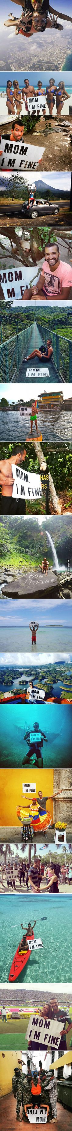 Guy Goes Traveling But Doesn't Forget To Tell His Mom He's OK