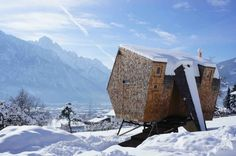 Stay in a Tiny Shingled Cabin in Austria That Resembles a Bird-Like UFO - Photo 2 of 11 -