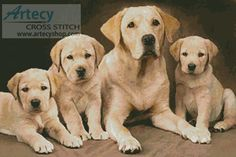 Golden Retrievers Cross Stitch Pattern http://www.artecyshop.com/index.php?main_page=product_info&cPath=74_80&products_id=25