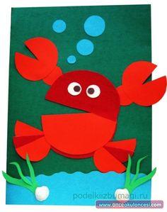 Summer Crafts For Kids, Paper Crafts For Kids, Preschool Crafts, Art For Kids, Diy Paper, Sea Crafts, Fish Crafts, Middle School Crafts, Holiday Homework