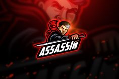 Assassin - Mascot & Esport Logo by aqrstudio on Envato Elements Graphic Design Templates, Print Templates, Esports Logo, Free Logo, Magazine Template, Coreldraw, Creative Logo, Cool Logo, Assassin