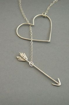 Heart + arrow necklace, i think this is too cute!
