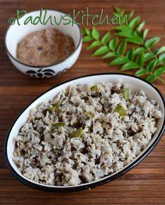 Healthy and easy urad dal rice (ulundu sadam) with sesame seed thuvaiyal.