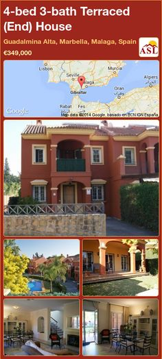 Terraced (End) House for Sale in Guadalmina Alta, Marbella, Malaga, Spain with 4 bedrooms, 3 bathrooms - A Spanish Life