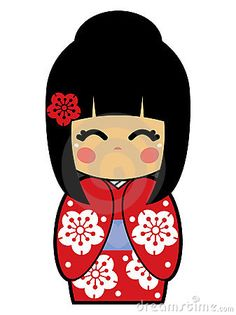Kokeshi Doll Vector by Beaniebeagle, via Dreamstime