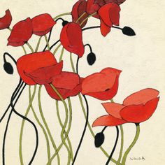 art deco poppies!